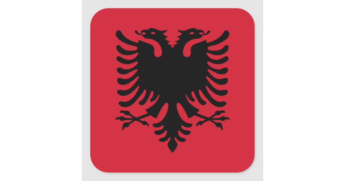 Albania albani albanian flag square sticker zazzle com