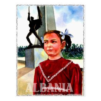 Albania Art Postcard