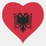 Albania - bandera albanesa etiquetas