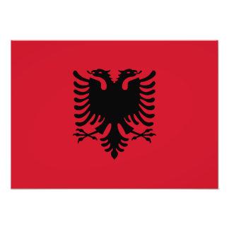Albania - bandera albanesa fotografía