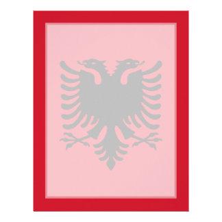 Albania - bandera albanesa membrete personalizado
