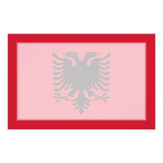 Albania - bandera albanesa papelería de diseño