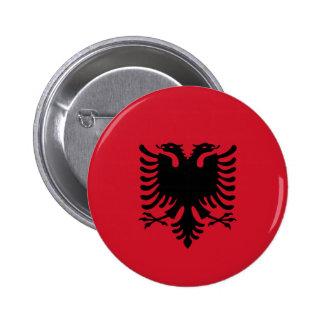 Albania - bandera albanesa pin redondo 5 cm