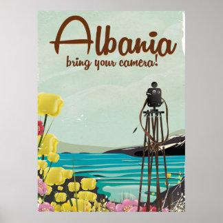 Albania Camera Vintage travel poster