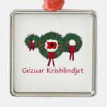 Albania Christmas 2 Metal Ornament