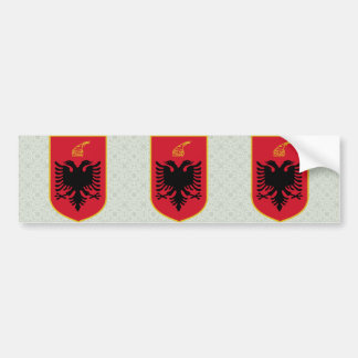 Albania Coat of Arms detail Car Bumper Sticker