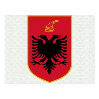 Albania Coat of Arms detail Postcard