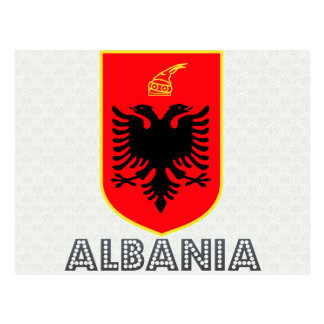 Albania Coat of Arms Postcard