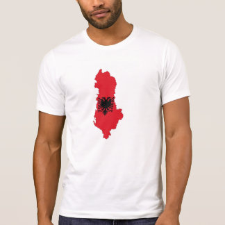 albania country flag map shape symbol silhouette T-Shirt
