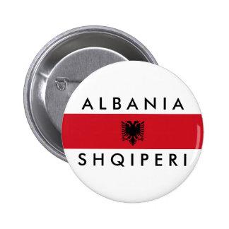 albania country long flag nation symbol name button