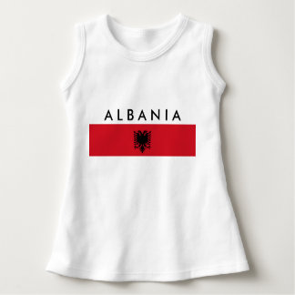 albania country long flag nation symbol name text dress