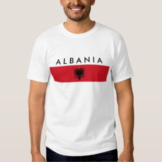 albania country long flag nation symbol name text T-Shirt