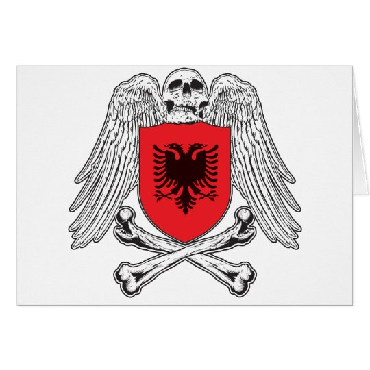 Albania Crossbones Card