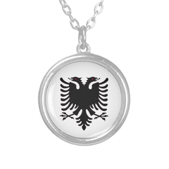 Albania double headed eagle silver necklace zazzle albania double headed eagle silver necklace aloadofball Gallery