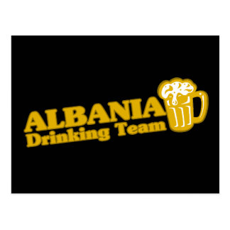 Albania Drinking Team Postcard