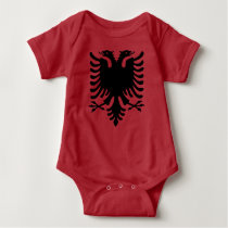 Albania Eagle Grey Baby Jumper Baby Bodysuit