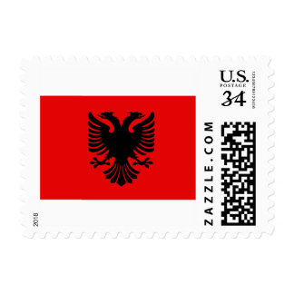 Albania Eagle Red Flag Stamps
