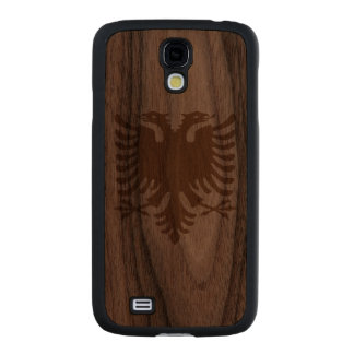 Albania Eagle Carved® Walnut Galaxy S4 Case