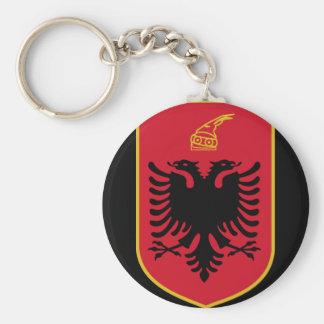 albania emblem basic round button keychain