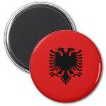 Albania Fisheye Flag Magnet