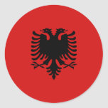 Albania Fisheye Flag Sticker