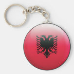 Albania Flag Basic Round Button Keychain