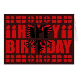 Albania Flag Birthday Card
