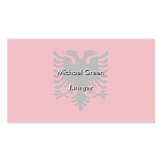 Albania Flag Business Card
