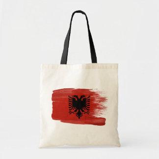 Albania Flag Canvas Bags