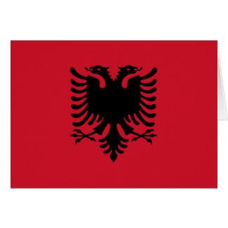 Albania Flag Card