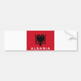 albania flag country text name bumper sticker