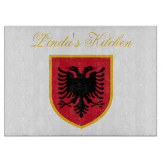 Albania Flag Cutting Board