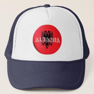 Albania flag football soccer hat