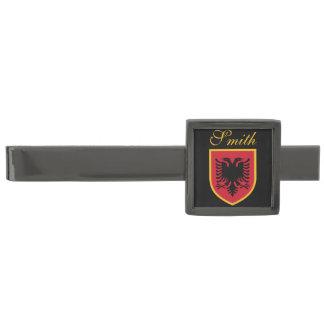 Albania Flag Gunmetal Finish Tie Bar