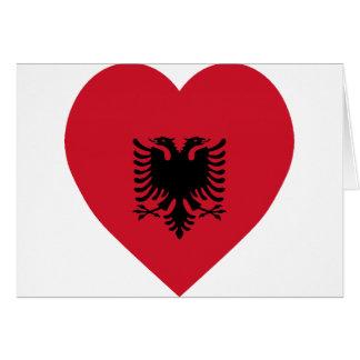 Albania Flag Heart Card
