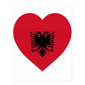 Albania Flag Heart Postcard