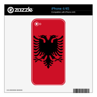 Albania Flag iPhone Skin iPhone 4S Decals