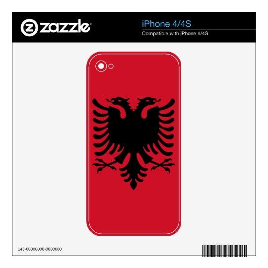 Albania Flag iPhone Skin iPhone 4 Decals