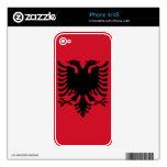 Albania Flag iPhone Skin iPhone 4S Decals