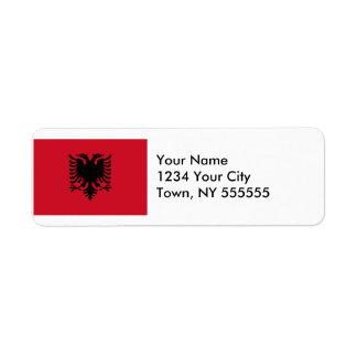 Albania Flag Label