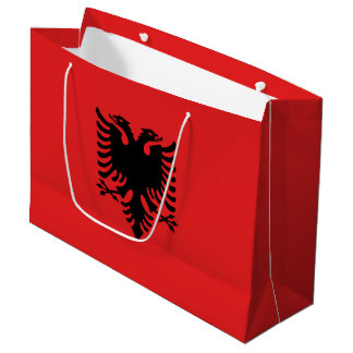 Albania Flag Large Gift Bag