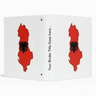 Albania Flag Map full size 3 Ring Binders