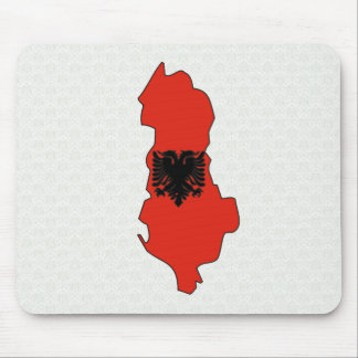 Albania Flag Map full size Mouse Pad