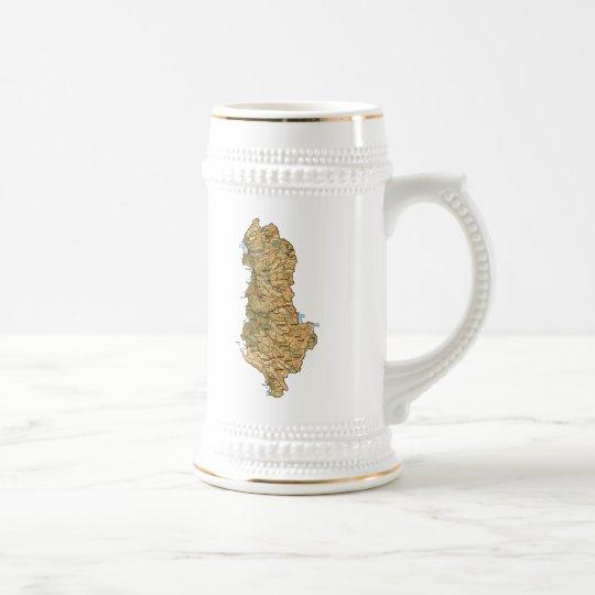Albania Flag ~ Map Mug