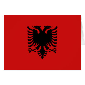 Albania Flag Notecard
