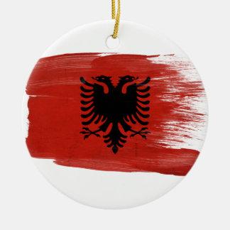 Albania Flag Christmas Ornaments