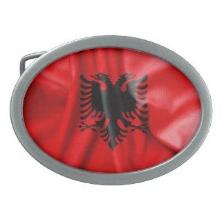 Albania Flag Oval Belt Buckle