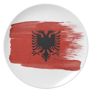 Albania Flag Dinner Plate