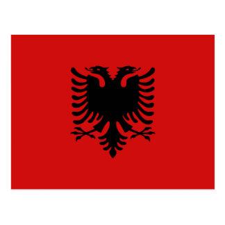 Albania Flag Postcard