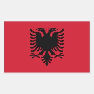 Albania Flag Rectangle Stickers
